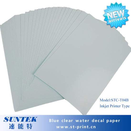Blue Based Clear Water Slide Decal Transfer Paper for Nail pictures & photos
