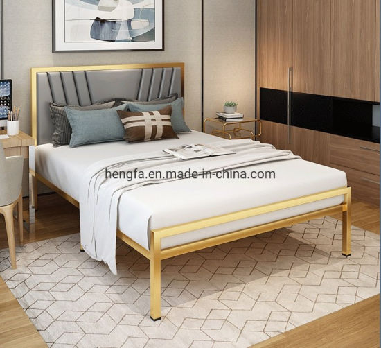 Modern Customized Full Size Bedroom, Wood And Steel Bedroom Furniture
