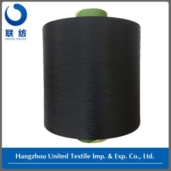 100% Polyester DTY Dope Dyed Weaving Yarn (150D/48F NIM) Black