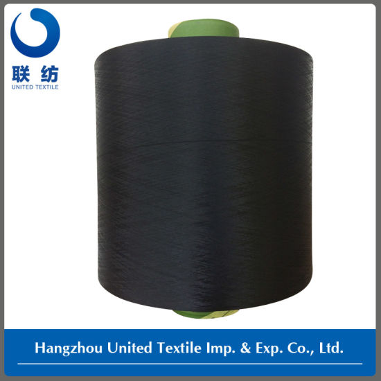 Polyester Dope Dyed Filament DTY Yarn (150D/48F NIM) Black for Weaving pictures & photos