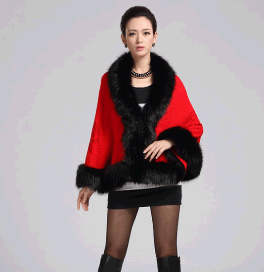 New Fashion Fox Women′s Cloak Coat pictures & photos