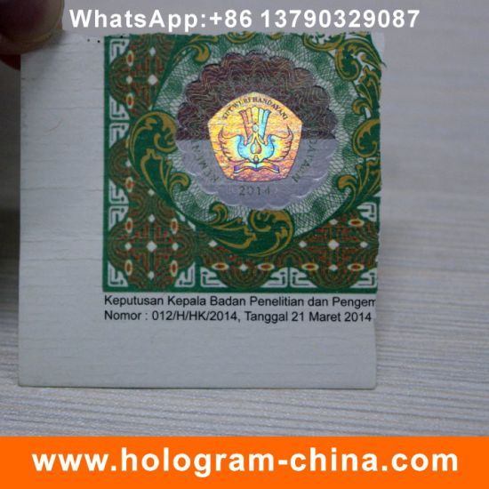 Security Anti-Fake Hot Stamped Hologram Sticker pictures & photos