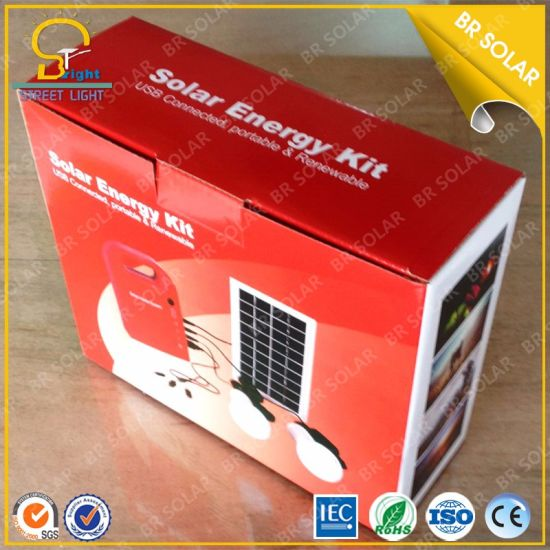 Portable Type Integrated Solar Home Lighting Kits pictures & photos