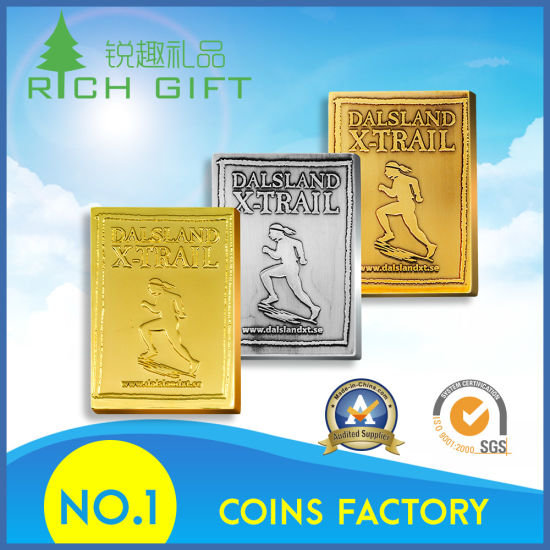 Manufacture Metal Gold/Silver/Enamel Challenge Coin Custom Logo