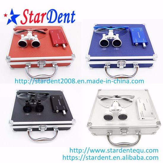 2.5/3.5X Color Magnification Binocular Loupes of Dental Hospital Medical Lab Surgical Diagnostic Dentist Equipment