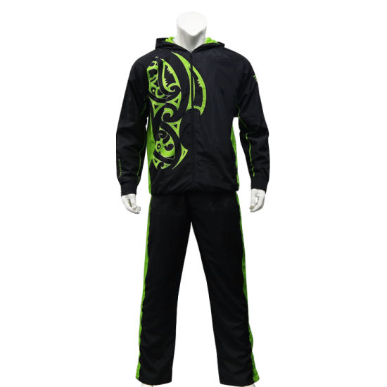Customized Sublimation Sportswear Zipper Men Jacket Hoody Men Tracksuit pictures & photos