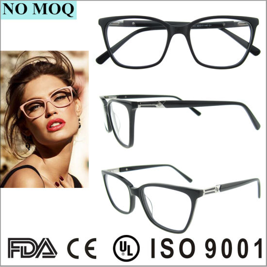 17261df5143 China Hot Sale Black Acetate Eye Glasses Frames for Women - China ...
