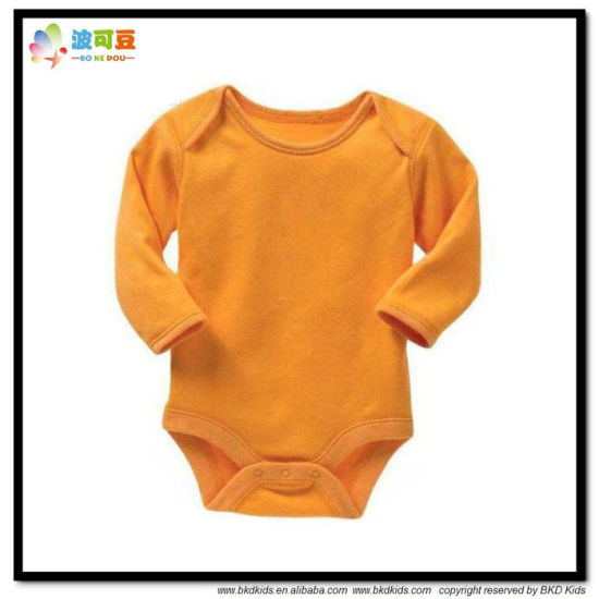 Custom Size Baby Clothes Plain Dyed Babies Onesie