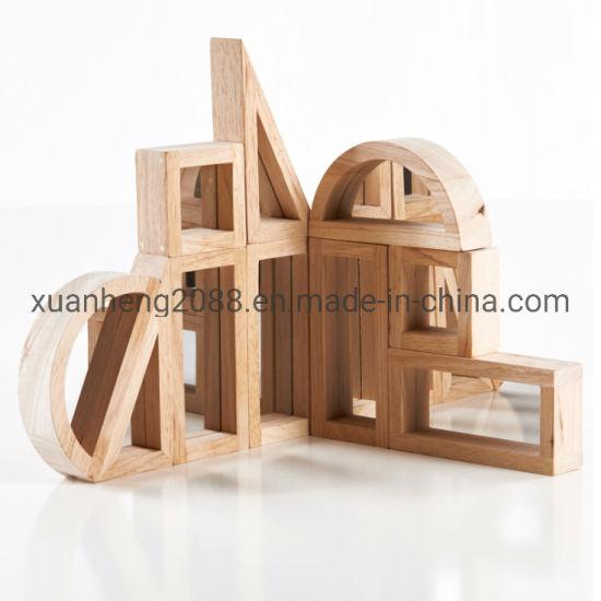 Earlier Childhood Preschool Teaching Resources Educational Wooden Toys Supplier Mirror Unit Blocks Set