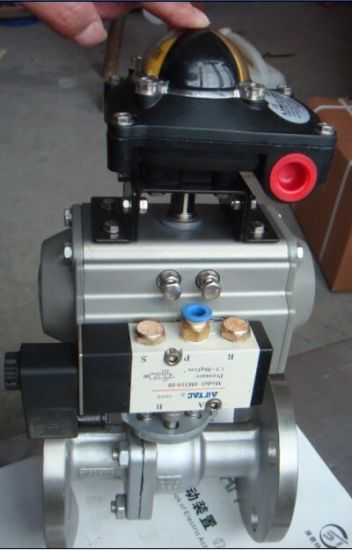 Pneumatic Actuator with Apl 210 Limit Switch Box pictures & photos