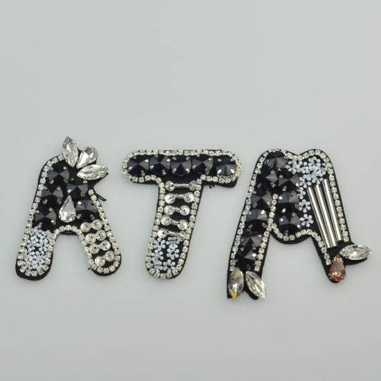 Wholesale Letters and Numbers Beaded Patch
