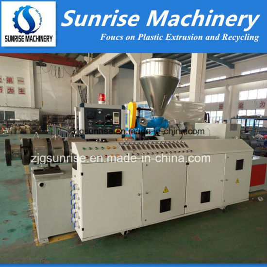 Plastic Conical Twin Screw Extruder PVC Water Pipe Extruder