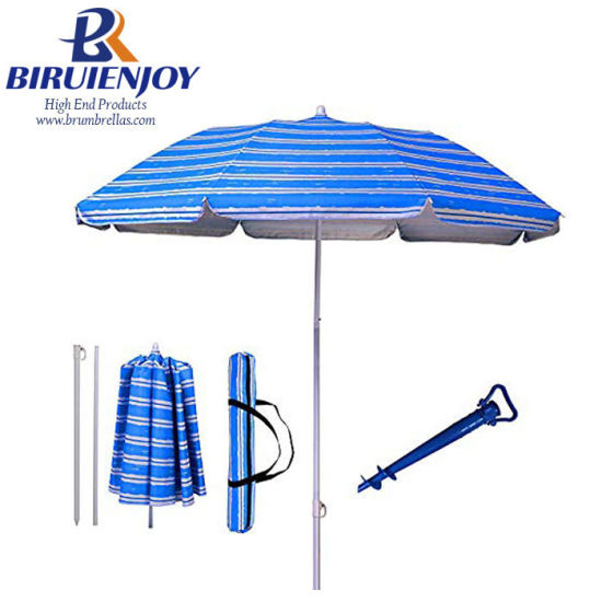 UV 3 Portable Beach Umbrella with Carry Bag for Beach/Picnic/Seaside/Sands pictures & photos