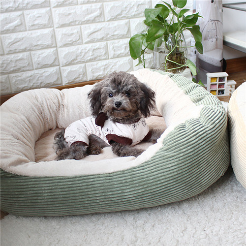 Brown Coral Velvet Cotton Soft Circle Dog Beds pictures & photos