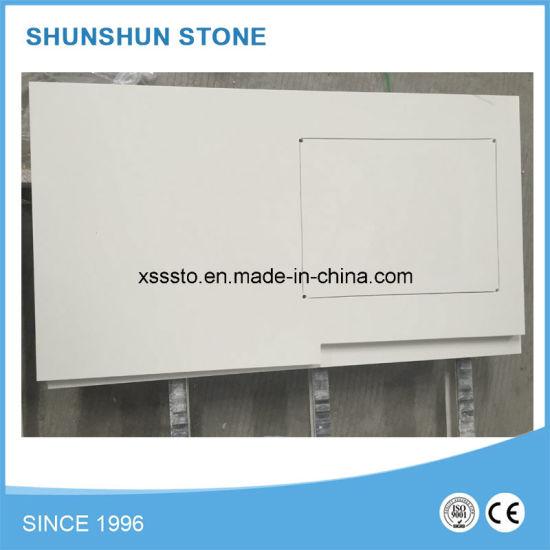 Popular White Quartz Stone Countertop Materials for Bathroom