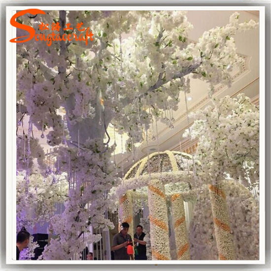 China white artificial cherry blossom tree for wedding decoration white artificial cherry blossom tree for wedding decoration junglespirit Image collections