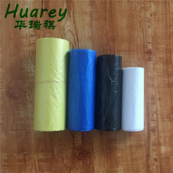 Black White Transparent Plastic Biodegradable Trash Rubbish Bin Garbage Bag Wholesale