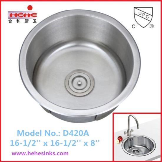 China Round Shape Stainless Steel Sink, Bar Sink, Kitchen Sink ...