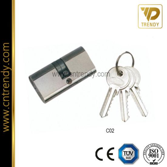 Door Hardware Brass Door Lock Body Cylinder with Keys (C02)