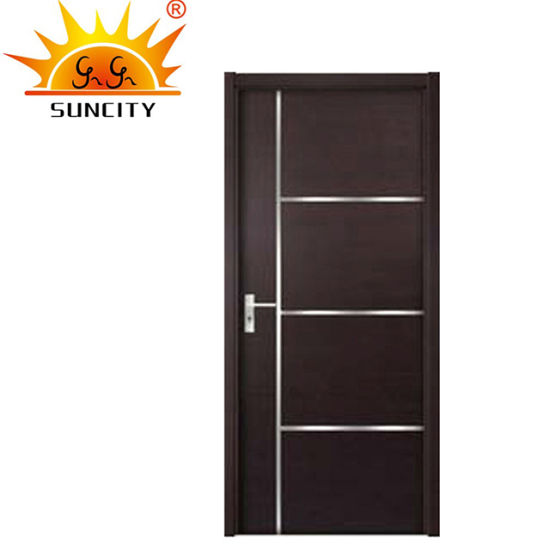 Economical Interior Wooden Rounded MDF PVC Door
