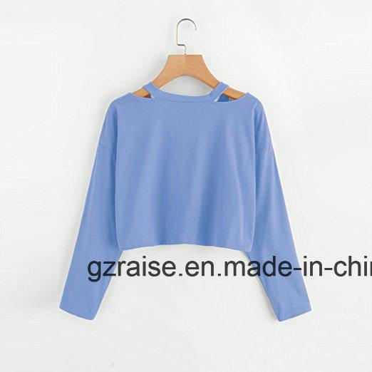 China 2018 Women Apparel Embroidery Fashion Ladies T Shirt China