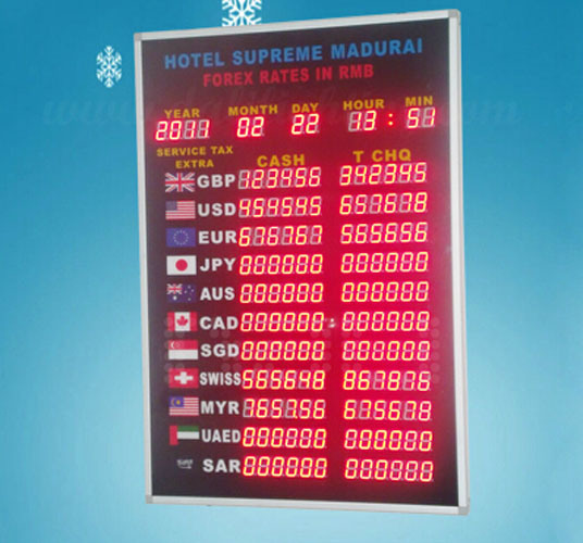 New Dasign Electronic LED Bank Exchange, Color Full pictures & photos