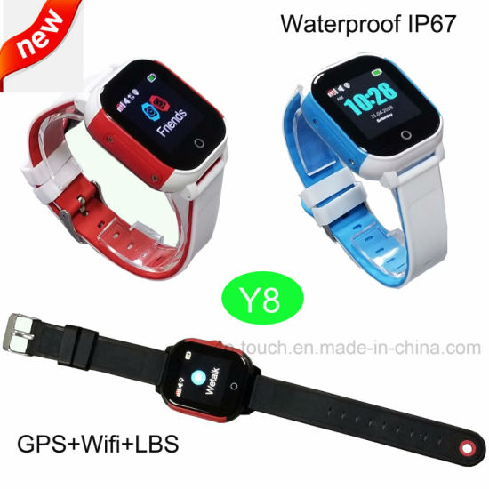 2018 New Developed Waterproof GPS Kids Tracker Watch Y8