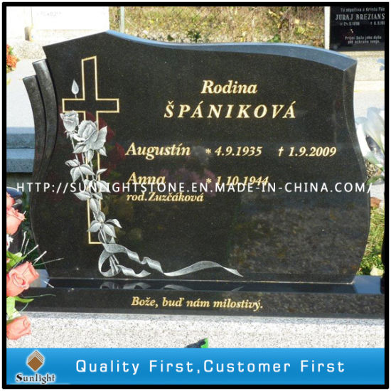 Cheap Black/Aurora/G654/Grey Granite Stone Monument Funeral Grave Pet Cemetery Headstones pictures & photos