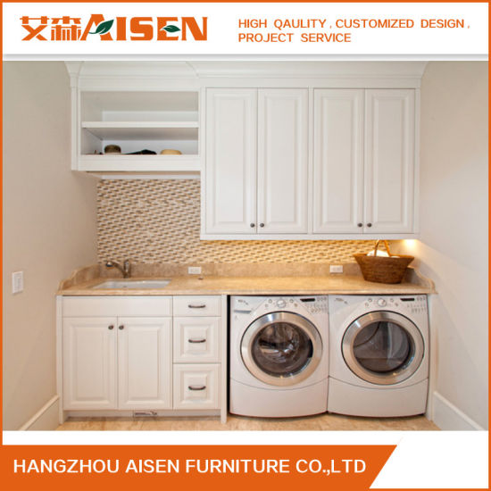 Wall Mounted Modern Glossy Laundry Cabinet From China