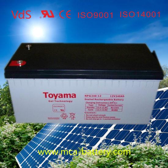 12V240ah Gel Battery Solar Battery Lead Acid Battery
