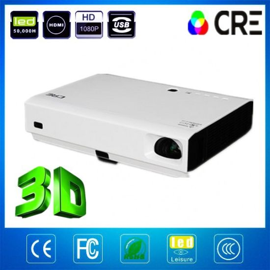 Wholesale 3000 Lumens Handy Mini LED Video Projector pictures & photos