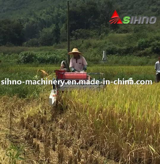 Self-Propelled Full Feeding 1200mm Cutter Head Mini Rice Combine Harvester