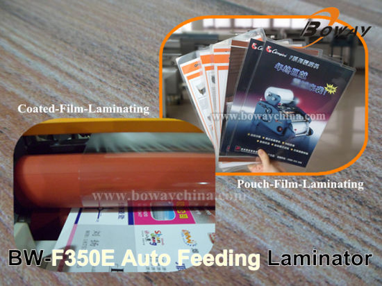 A3 A4 Size 350mm Automatic Feeding Two Sides Pouch Roll Film Hot Cold Laminator pictures & photos