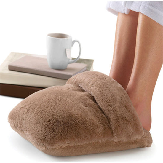 Electric Battery Operated Foot Warmer Vibrating Massage Shoes pictures & photos