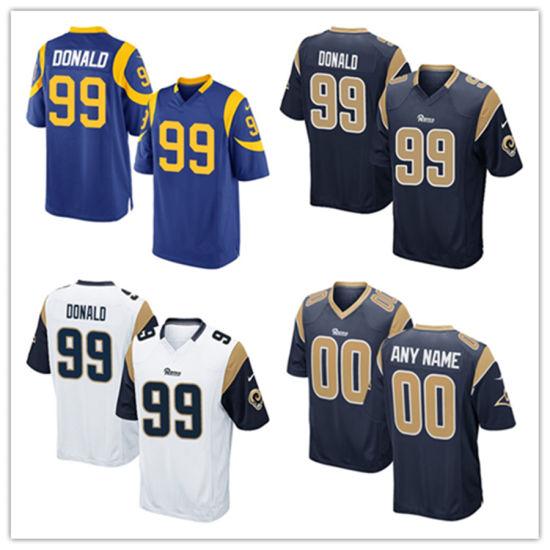 5975c9da68f China Men Women Youth Rams Jerseys 99 Aaron Donald Football Jerseys ...