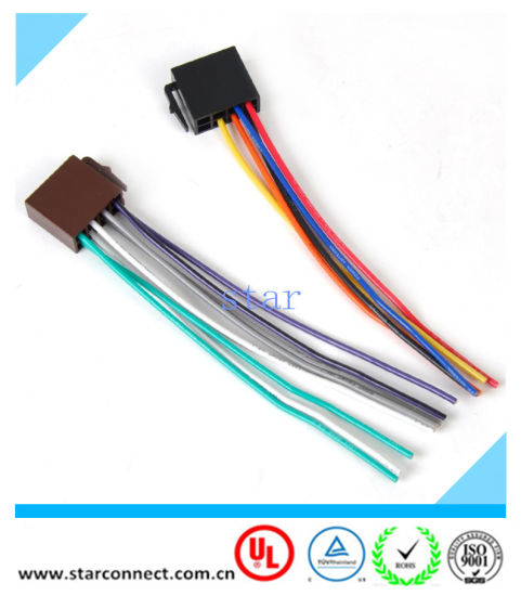 China Universal ISO Radio Wire Harness Adapter Connector ... on car stereo alternators, car speaker, car fuse, 95 sc400 stereo harness, car stereo sleeve, car wiring supplies, leather dog harness, car stereo cover, car stereo with ipod integration,
