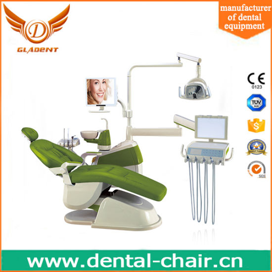 Dental Chair Unit with Top Mounted Instrument Tray pictures & photos