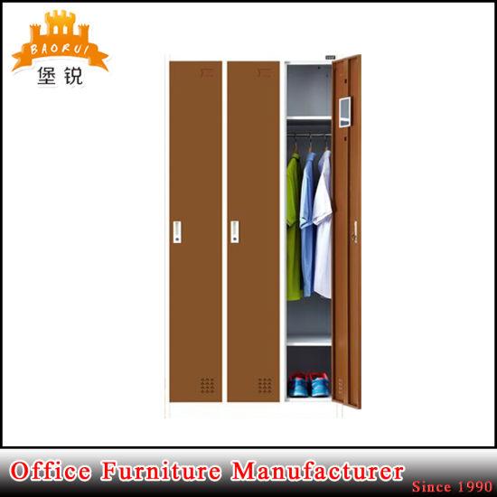 Wholesale 3 Door Steel Wardrobe Storage Cabinet Metal Lockers  sc 1 st  Luoyang Baorui Commercial Trading Co. Ltd. & China Wholesale 3 Door Steel Wardrobe Storage Cabinet Metal Lockers ...