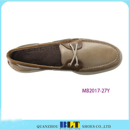 Best Sale Leather Boat Shoes with Shoe Lace pictures & photos