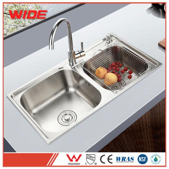 Luxury 304 Stainless Steel Cupc Double Sink America Standard Upc Kitchen  Sink