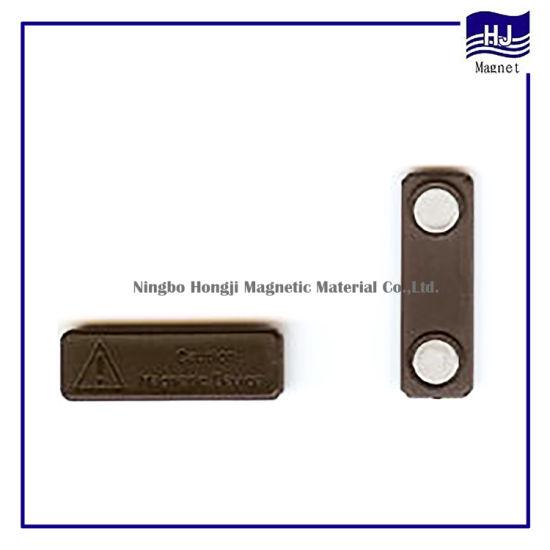 Permanent Neodymium Black Plastic Magnet Fastener NdFeB Magnetic Material