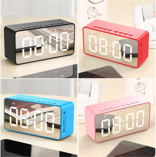 Wireless Bluetooths Speaker with FM Radio Digital Alarm Clock Smart Portable pictures & photos