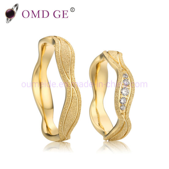 China Gold Silver Plating Stainless Steel Wedding Rings for