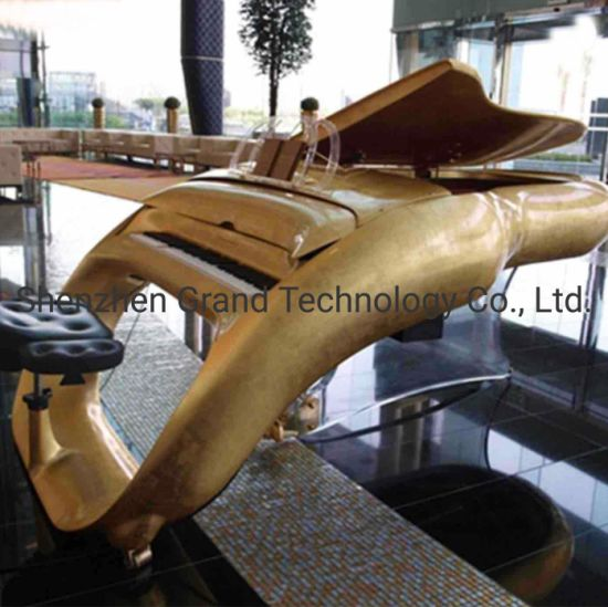 24K Pure Gold Car Concert Grand Piano for Luxury Villa Hotel pictures & photos