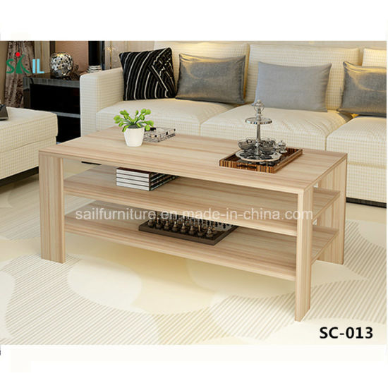 Living Room Furniture Simple Design Wooden Coffee Table
