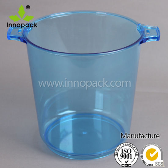 4L Round High Quality PS Clear Plastic Champagne Beer Ice Bucket