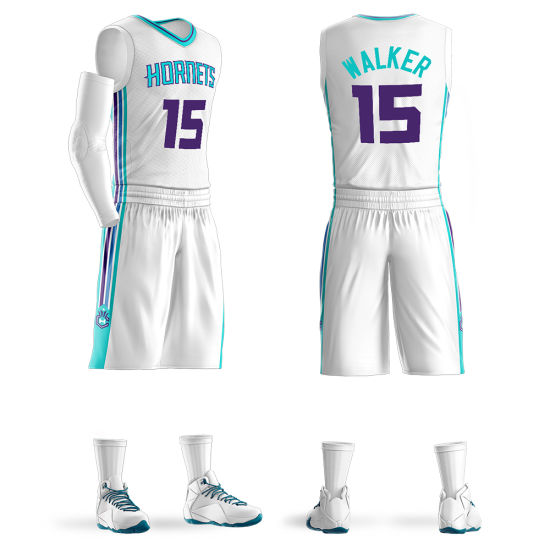 the best attitude 368c3 66283 Custom Charlotte Hornets #15 Kemba Walker Swingman Basketball Jersey