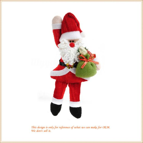 Wholesale Christmas Gift Santa Claus Plush Doll for Home Decoration pictures & photos