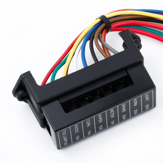8 way dc32v circuit car trailer auto blade fuse box block holder atc ato 2 input 8 ouput Fuse Box Audi