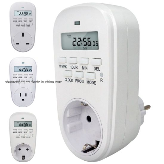 Hot Adjustable Programmable Setting of Clock on off Time Digital Timer Switch Energy Saving Smart Power Socket EU Us UK Plug pictures & photos